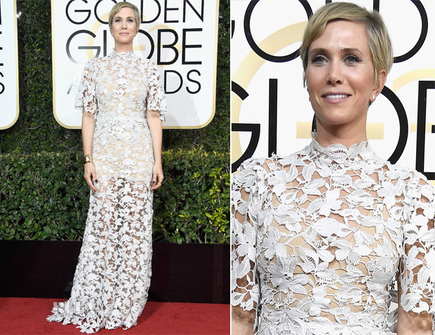 Kristen Wiig In Reem Acra - 2017 Golden Globe Awards