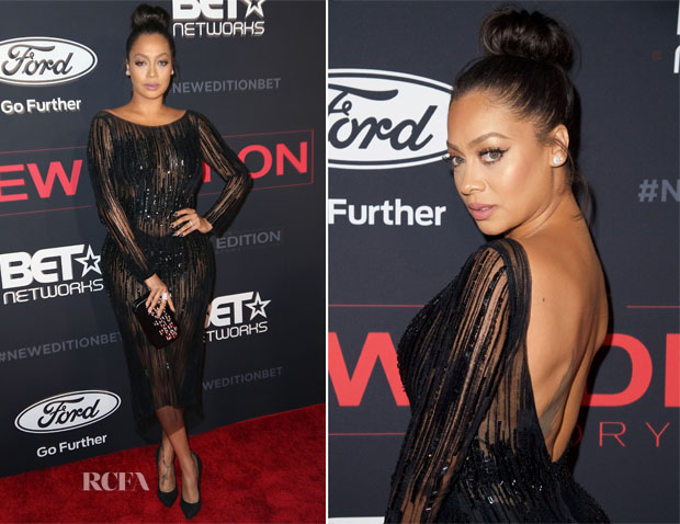 La La Anthony In Thai Nguyen Atelier - BET's 'The New Edition Story' Premiere