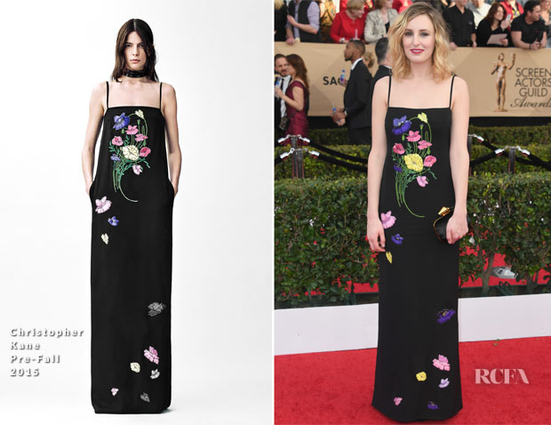 Laura Carmichael In Christopher Kane - 2017 SAG Awards