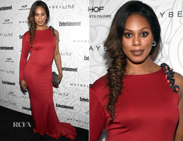 Laverne Cox In Jason Boateng - 2017 Producers Guild Awards