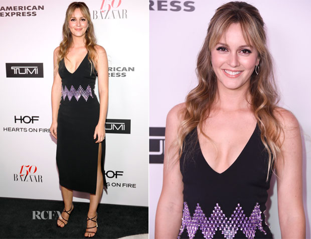 Leighton Meester In David Koma - Harper's Bazaar Celebrates 150 Most Fashionable Women
