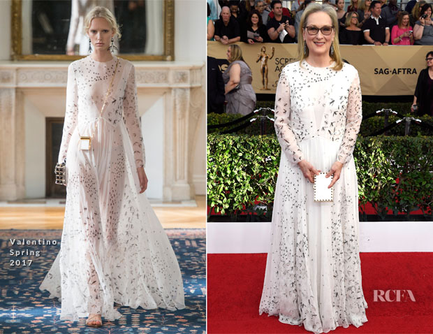 Meryl Streep In Valentino - 2017 SAG Awards