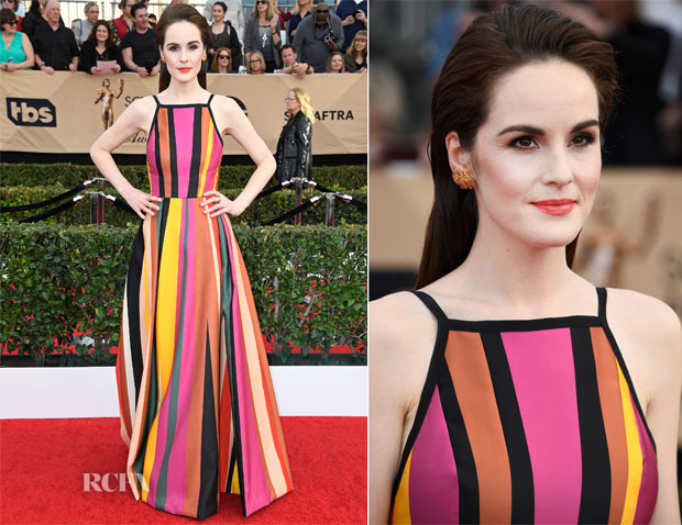 Michelle Dockery In Elie Saab - 2017 SAG Awards