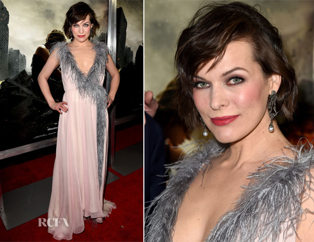 Milla Jovovich In Prada - 'Resident Evil: The Final Chapter' LA Premiere