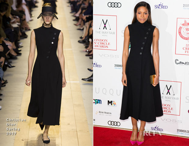 Naomie Harris In Christian Dior - The London Critic's Circle Film Awards