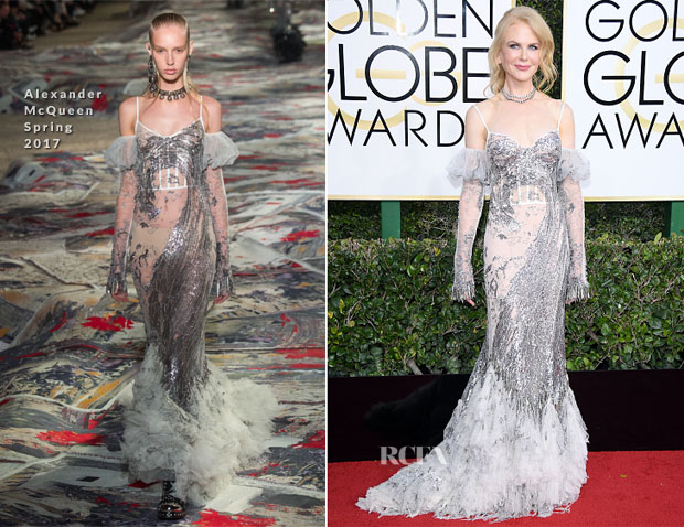 Nicole Kidman In Alexander McQueen, Bottega Veneta & Valentino Couture - 2017 Golden Globe Awards, 2017 Winter TCA Tour & ELLE's Women in Television