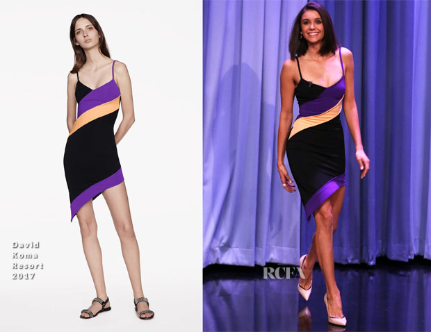 Nina Dobrev In David Koma - The Tonight Show Starring Jimmy Fallon