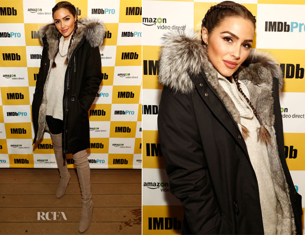 Olivia Culpo In Mackage & J Brand - The IMDb Studio At The 2017 Sundance Film Festival