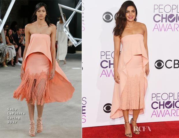 Priyanka Chopra In Sally LaPointe - 2017 People's Choice Awards