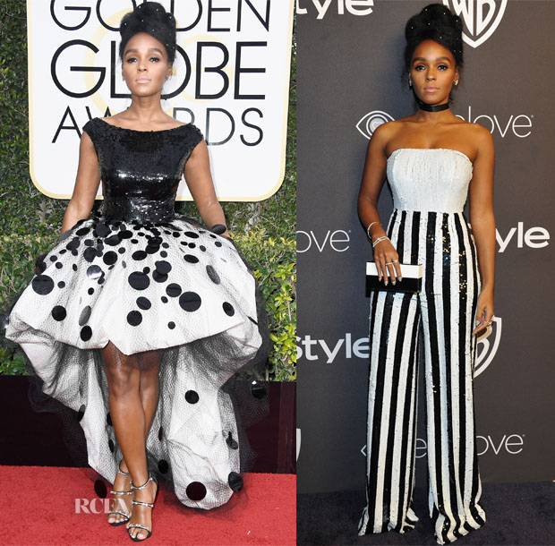 Janelle Monae In Armani Prive & Georges Chakra - 2017 Golden Globe Awards