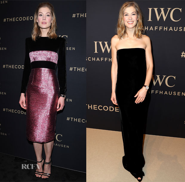 Rosamund Pike In Alex Perry - Da Vinci Collection by IWC Schaffhausen Launch