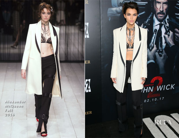 Ruby Rose In Alexander McQueen - 'John Wick: Chapter Two' LA Premiere