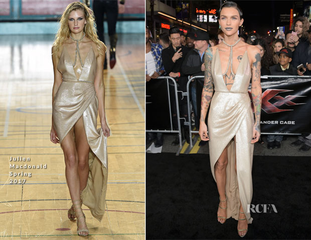 Ruby Rose In Julien Macdonald - 'xXx': Return of Xander Cage' LA Premiere