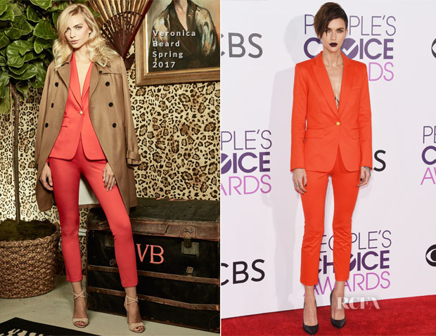 Ruby Rose In Veronica Beard - 2017 People's Choice Awards