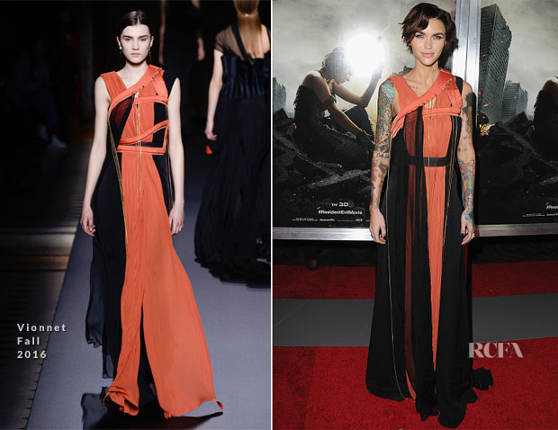 Ruby Rose In Vionnet - 'Resident Evil: The Final Chapter' LA Premiere