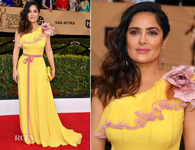 Salma Hayek In Gucci - 2017 SAG Awards