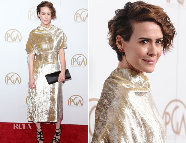 Sarah Paulson In Maison Margiela - 2017 Producers Guild Awards