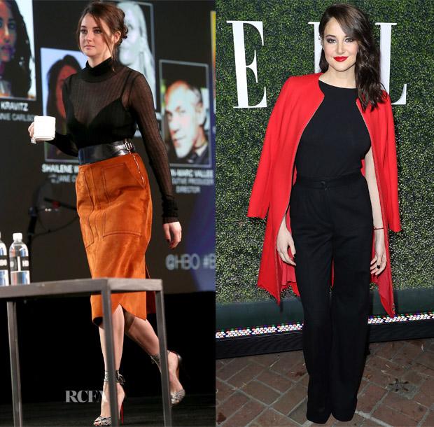 Shailene Woodley In Bottega Veneta, Dolce & Gabbana & Salvatore Ferragamo - 2017 Winter TCA Tour & ELLE's Women in Television