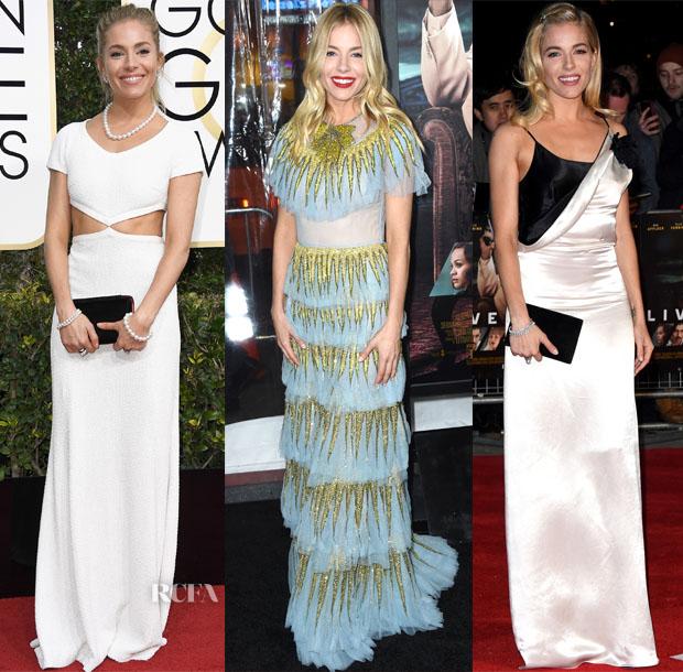 Sienna Miller In Michael Kors, Gucci & Lanvin - 2017 Golden Globe Awards & 'Live by Night' LA & London Premiere's