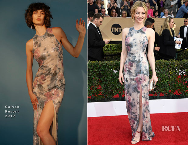 Talulah Riley In Galvan - 2017 SAG Awards
