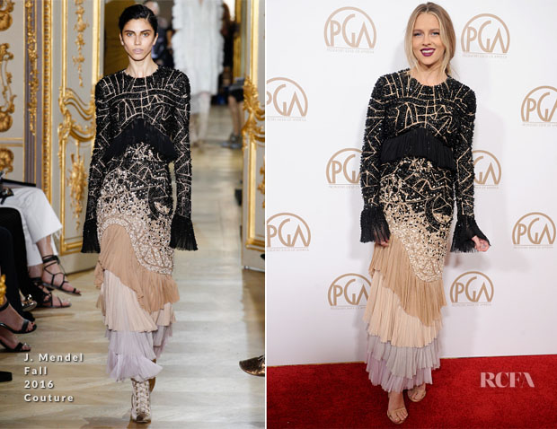 Teresa Palmer In J. Mendel Couture - 2017 Producers Guild Awards