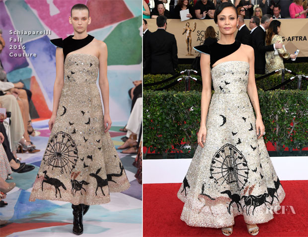 Thandie Newton In Schiaparelli Couture - 2017 SAG Awards