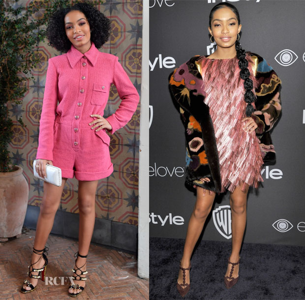 Yara Shahidi In Chanel & Schiaparelli Couture - W Magazine 'It Girl' Luncheon & 2017 Golden Globes Party