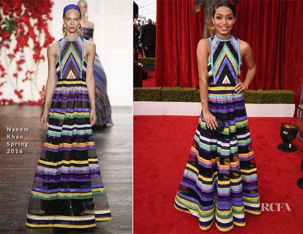 Yara Shahidi In Naeem Khan – 2017 SAG Awards
