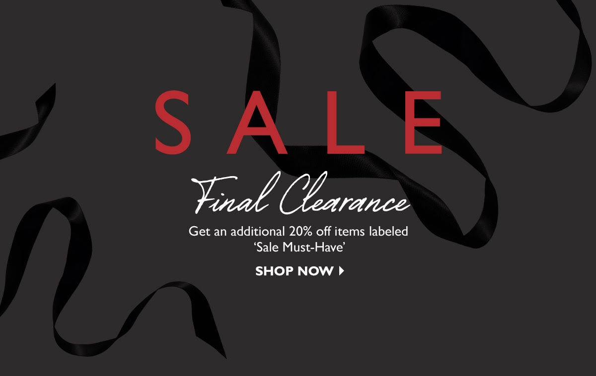 Net-A-Porter Final clearance now on! Get an extra 20% off sale items now