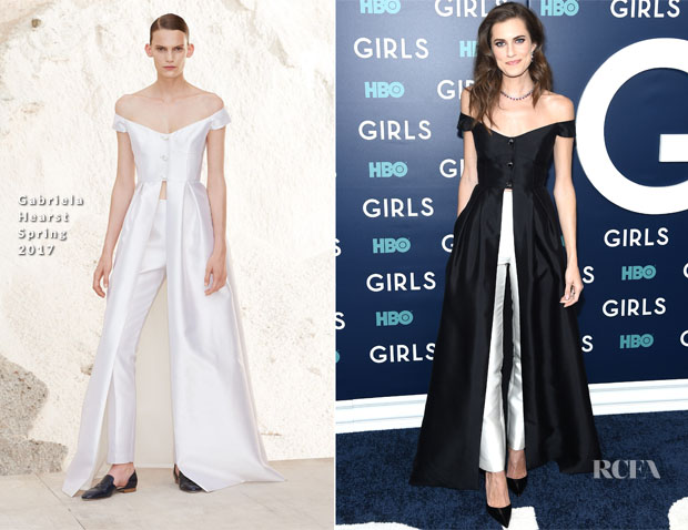 Allison Williams In Gabriela Hearst - 'Girls' Season 6 New York Premiere