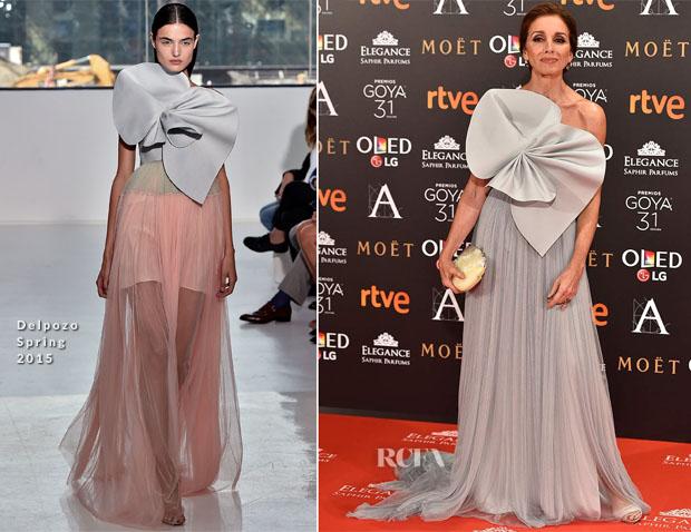 Ana Belén In Delpozo - 2017 Goya Awards