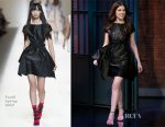 Anna Kendrick In Fendi - Late Night with Seth Meyers