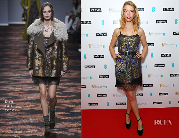 Anya Taylor-Joy In Etro - InStyle EE Rising Star Party