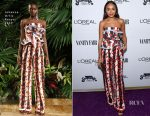 Ashley Madekwe In Johanna Ortiz - Vanity Fair Young Hollywood Party