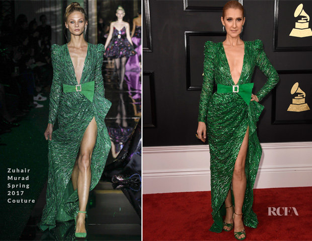 Celine Dion In Zuhair Murad Couture 2017 Grammy Awards