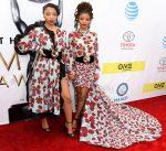 Chloe Bailey & Halle Bailey In Emmanuel Ungaro - 2017 NAACP Image Awards