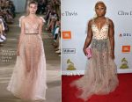 Cynthia Erivo In Monique Lhuillier - Pre-GRAMMY Gala