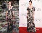 Dakota Johnson In Alexander McQueen - 'Fifty Shades Darker' London Premiere