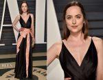 Dakota Johnson In Gucci - 2017 Vanity Fair Oscar Party