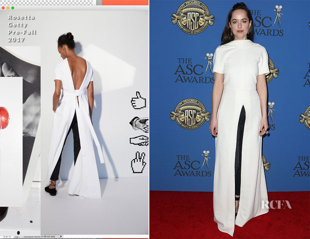 Dakota Johnson In Rosetta Getty - American Society Of Cinematographers Awards
