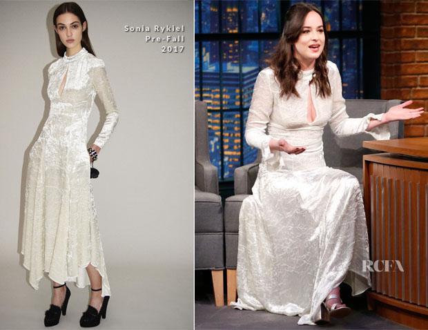 Dakota Johnson In Sonia Rykiel - Late Night with Seth Meyers
