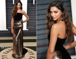 Deepika Padukone In Monique Lhuillier - 2017 Vanity Fair Oscar Party