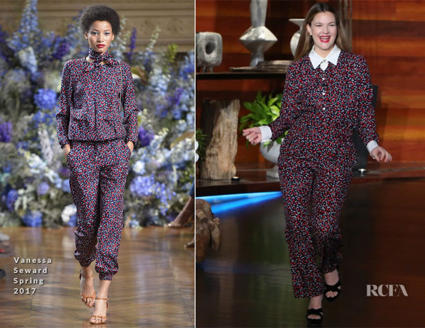 Drew Barrymore In Vanessa Seward - The Ellen DeGeneres Show