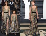 Elizabeth Banks In Elie Saab Couture - 2017 Vanity Fair Oscar Party