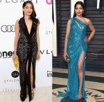 Freida Pinto In Rohit Gandhi + Rahul Khanna & Elie Saab - 2017 Oscar Parties