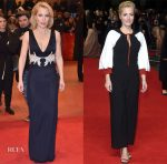 Gillian Anderson In Galvan & Roksanda - 'Viceroy's House' Berlin Film Festival & London Premieres