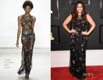 Hillary Scott In Jenny Packham - 2017 Grammy Awards