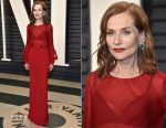 Isabelle Huppert In Armani Privé - 2017 Vanity Fair Oscar Party