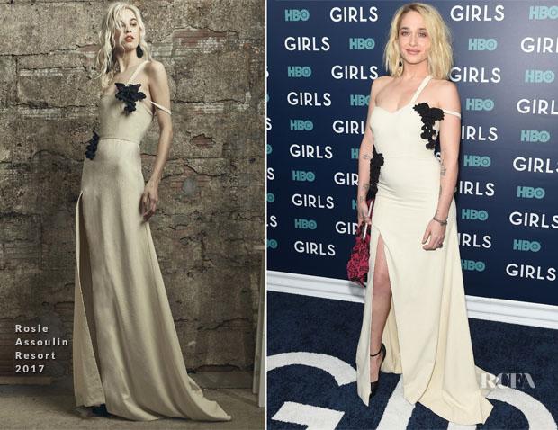 Jemima Kirke In Rosie Assoulin - 'Girls' Season 6 New York Premiere