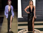 Jennifer Aniston In Atelier Versace - 2017 Vanity Fair Oscar Party